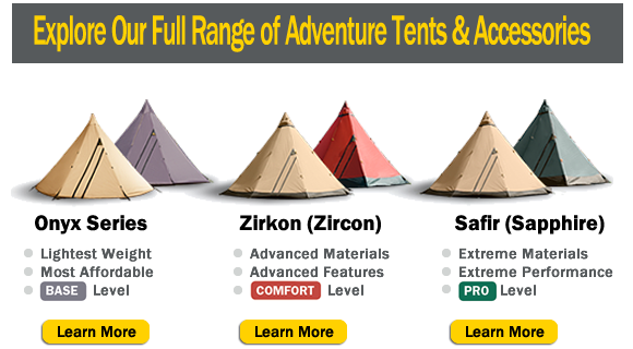 Tentipi adventure tents in North America