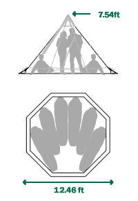 Tentipi Zirkon 5 Light Tent floorplan