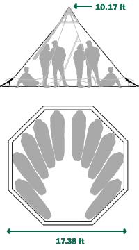 Tentipi Onyx 9 tent floorplan