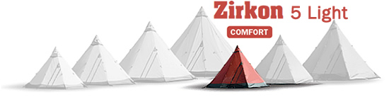 Tentipi Zirkon 5 Light Tipi Tents