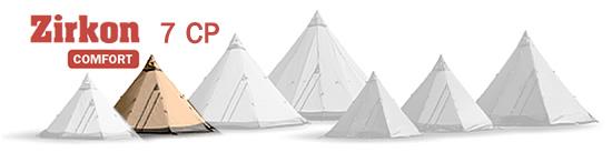 Zirkon 7 CP Tentipi tent image