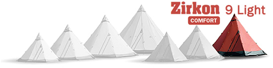 Tentipi Zircon 9 Light Tent-tipi Series